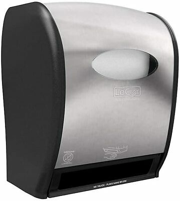 D68001 Solaris Paper LoCor Wall-Mount Electric Paper Towel Dispenser, Stainless