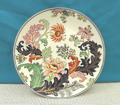 Beautiful Hand Painted Macau Decorative Porcelain Chinese Plate - Floral Design