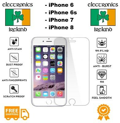 Premium Quality Screen Protector For iPhone 6 6s 7  8 Genuine Tempered Glass
