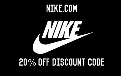 NIKE 20% OFF DISCOUNT PROMO CODE ONLINE (USA ONLY) FAST DELIVERY Nike.com