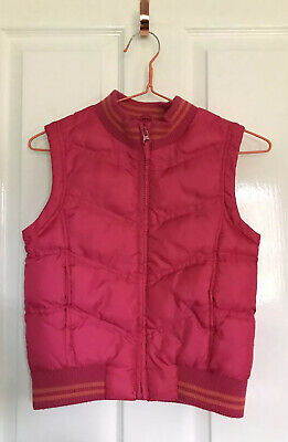 MOTHERCARE Girls Pink Quilted Gilet Bodywarmer Sleeveless Coat age 7-8