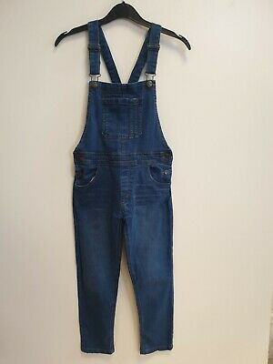 Girls Vintage Fab Kids Blue Skinny Stretch Overall Dungarees Age 12 W24 L24
