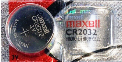 1 PC NEW GENUINE MAXELL CR2032 DL2032 3V lithium batteries MADE IN JAPAN