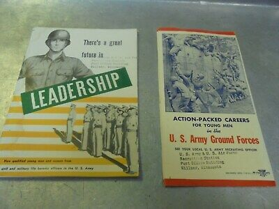 Vintage Two 1946 and 1948 U. S. Army recruiting brochures