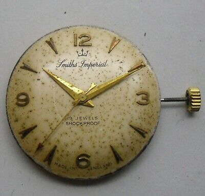 Smiths Imperial 0104 Movement Working Repair. Smiths Imperial Dial & Movement