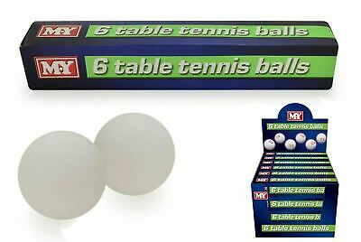 New Plain White Ping Pong Table Tennis Balls sports 6 PC In Pack