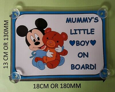 Personalised Minnie Mouse Child//Baby on Board Car Sign New ~ Hot Pink//White PD/'s