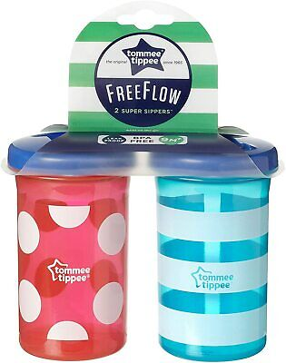 Tommee Tippee Free Flow Super Sippers Pack Of 2 - 300Ml - 9 Months+