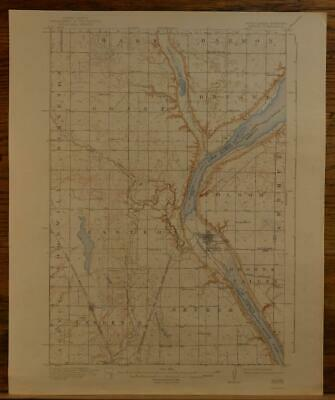 Browns Valley Minnesota Peever SD Original Vintage 1942 USGS Topographic Map