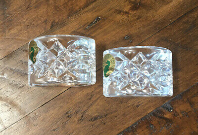 2 Waterford Crystal Lismore Oval Napkin Rings