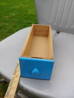 Antique Wooden Sewing Machine Drawer Replacement or for Crafting singer painted