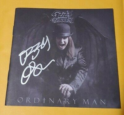 """OZZY OSBOURNE """"Ordinary Man"""" AUTOGRAPHED SIGNED Booklet"""