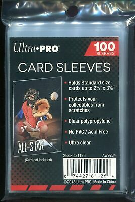 Ultra PRO 2-5/8 x 3-5/8 inch Soft Card Sleeves, Clear - 100 Pack - Free Shipping