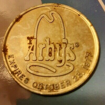 Arby's 25 Cent Trading Coin Vintage Rare 1977 Acceptable Condition Free Shipping
