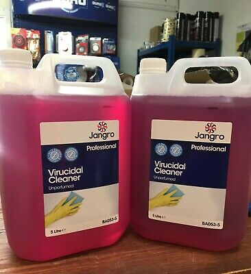 Virucidal Disinfectant 5 Litre 2 Bottles New Anti Viral Virus UK