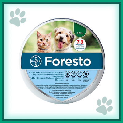Bayer Seresto/Foresto Flea & Tick Collar For Small Dogs & Cats up to 18lbs