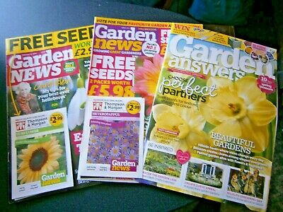 Garden News June 2019 & Feb 2020 With Seeds & Garden Answers March 2020 (new)