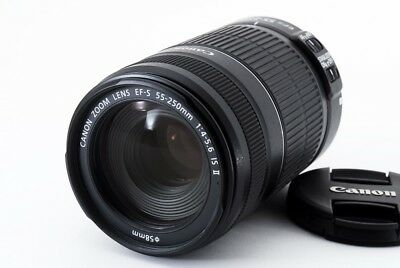 Canon EF-S 55-250mm F/4-5.6 IS II Lens [Excellent++++]  From Japan [jkh]