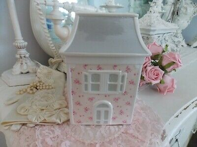 Rachel Ashwell Simply Shabby Chic Retired Pink Rose  House Coin Piggy Bank