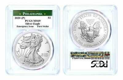 2020 (P) $1 Silver Eagle Philadelphia Emergency Issue PCGS MS69 First Strike