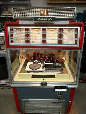 AMI Jukebox G80 Coin Operated 45 RPM Vinyl Retro Collectable Arcade Game Room