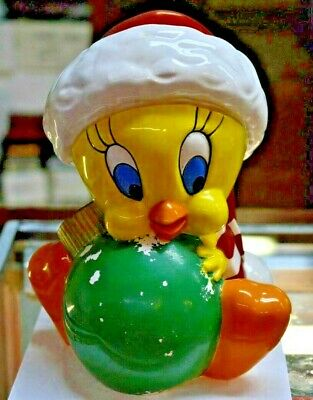 Warner Bros 1996 Tweety Bird Holiday Ceramic Cookie Jar 12""
