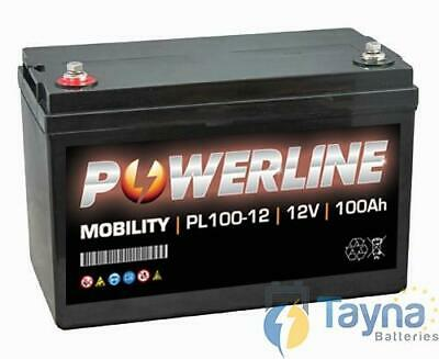 PL100-12 Powerline Mobility Batterie 12V 100Ah