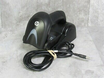 HP HP440W Wireless Bluetooth Barcode Scanner w/ HP4010w Charger & USB Cable
