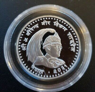 NEPAL 100 Rupees 1974 Silver Proof YEAR OF THE CHILD