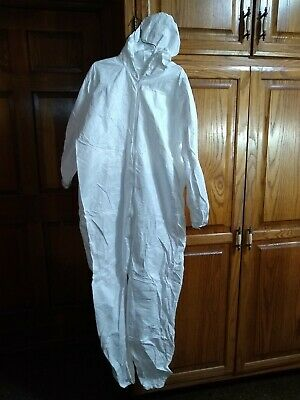 Painter's Coverall White W/Elastic Wrist + Ankle, 01428 Lakeland , Size M
