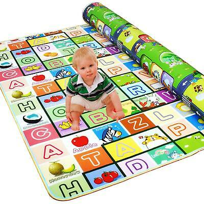 Kids Crawling 2 Side Play Mat Educational Game Soft Foam Picnic Baby 200x180CM