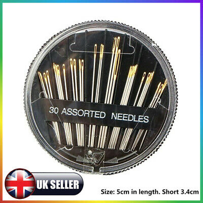 30pcs sewing machine Assorted Hand Sewing Needles Embroidery Mending Craft Case