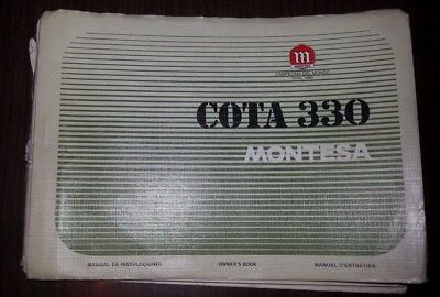 Montesa Cota 330 manuale uso + catalogo ricambi originale owner's + parts manual