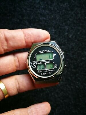 Rare Microma digital watch MD 115S , ESA 6063 2 934.712   H.Cuzco C.F.