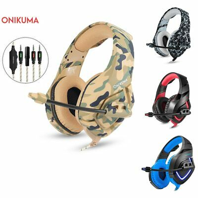 Camouflage Pattern Gaming Headset Stereo Bass Headphones With Microphone For Pc