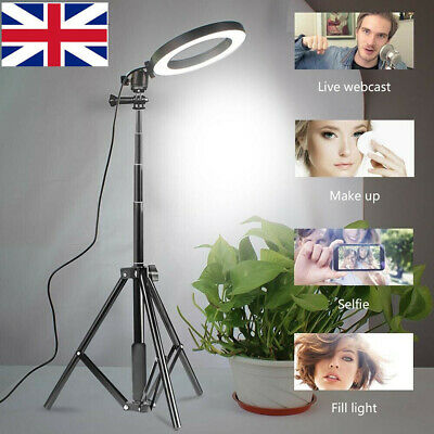 8 Inch LED Ring Light With Stand and Phone Holder Make-up for Camera iPhone New