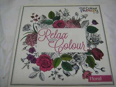 Colouring Colour Books Anti Stress Calm Therapy 30 Perforated Pages