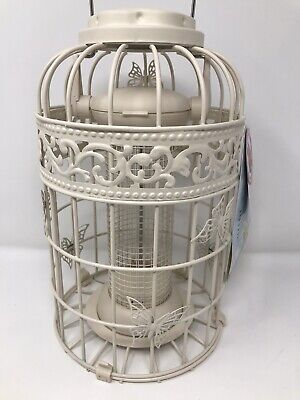 Large WILD BIRD French Style Cream Butterfly Peanut Feeder - Squirrel Proof -