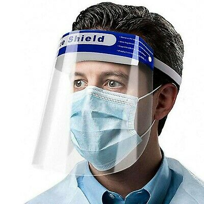 5 PCS Safety Full Face Shield Clear Protector Work Medical Dental, Standard Size