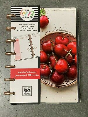 The Happy Planner - Mini Bon Appetit Recipe Organizer (M&MBI) | Read Description
