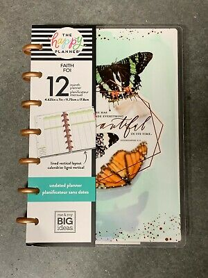 The Happy Planner -Mini Undated 12 Month Faith Planner (M&MBI) |Read Description