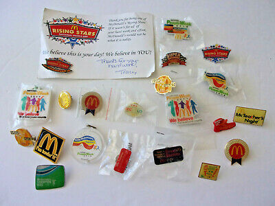 Rare  Mcdonalds Assorted  Employee's Bling Pin New  Lot Of 21