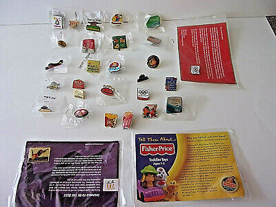Rare  Mcdonalds Assorted  Employee's Bling Pin New  Lot Of 18