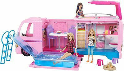 Barbie Dream Camper Pops Out Play set pool Fully Furnished * Brand new 2020