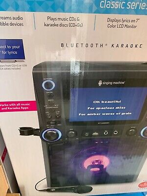 Singing Machine STVG885BK Bluetooth Karaoke System Brand New