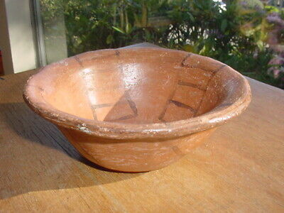 Very Old Primitive Maricopa Indian Pottery Bowl From Arizona
