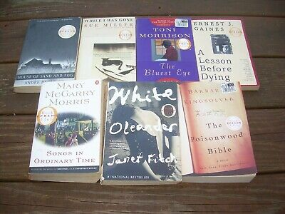 Lot of 7 Oprah's Book Club PB Dubus Fitch Gaines Kingsolver Miller Morrison
