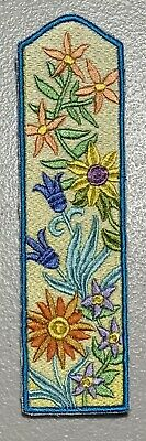 Handmade Floral themed Embroidered Bookmark