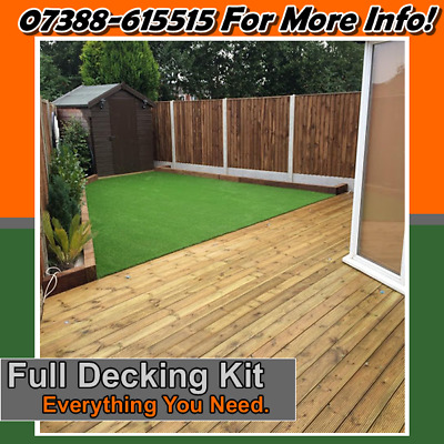🔥 Complete Decking Kit 🔥Tanalsied decking 🔥 See Postcodes  3.3m x 3.3m 🔥