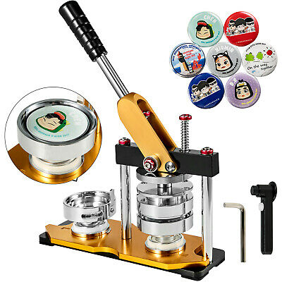 """58mm(2.28"""") Button Maker Rotate Machine 100Pcs Bottle Openers Key Chains Badge"""